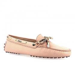 tod's mocassins & slippers Mocassins Gommino à lacetsLASSIE 3 - CUIR GRAINÉ - ROSE ET