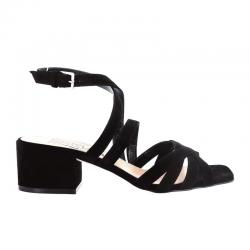 sergio rossi nouveautés sandales Sandales à talon 45 mmSR SANDALE BRIDE T45 - NUBUCK -