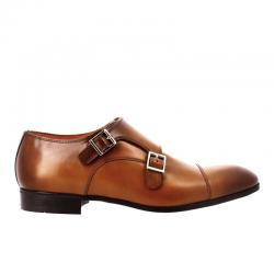 santoni chaussures à boucles Double-Boucle SimonSIBOUCLE - CUIR ROYAL CALF - GOL
