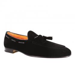 santoni mocassins et slippers Mocassins à pampillesCARLPO 2 - NUBUCK - NOIR