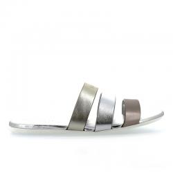hogan nouveautés sandales Sandales SlidesVALMA (2) - CUIR - OR, ARGENT ET