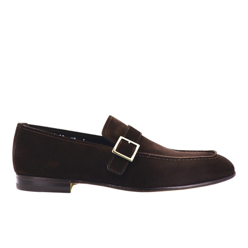 santoni mocassins et slippers Mocassins FosterFOSTER 2 - NUBUCK - CHOCOLAT ET