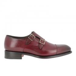 santoni nouveautés chaussures à boucles Double-boucle CarterCART - CUIR - BORDEAUX