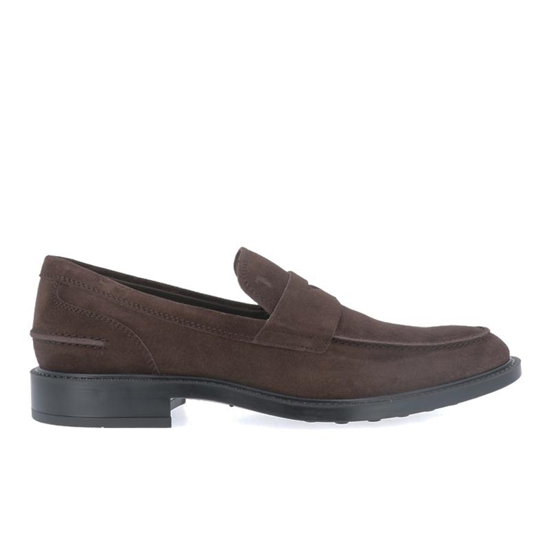 tod's mocassins et slippers Mocassins CollègeCOLLEGE 2 - NUBUCK - CHOCOLAT
