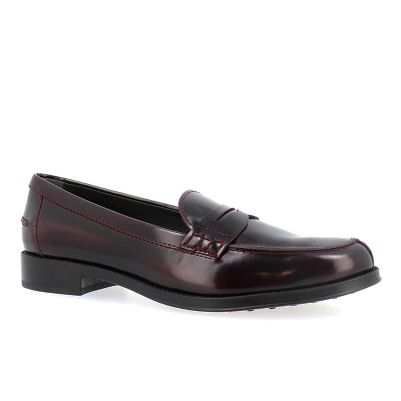 tod's mocassins & slippers MocassinsIVRESS - CUIR GLACÉ - BORDEAUX