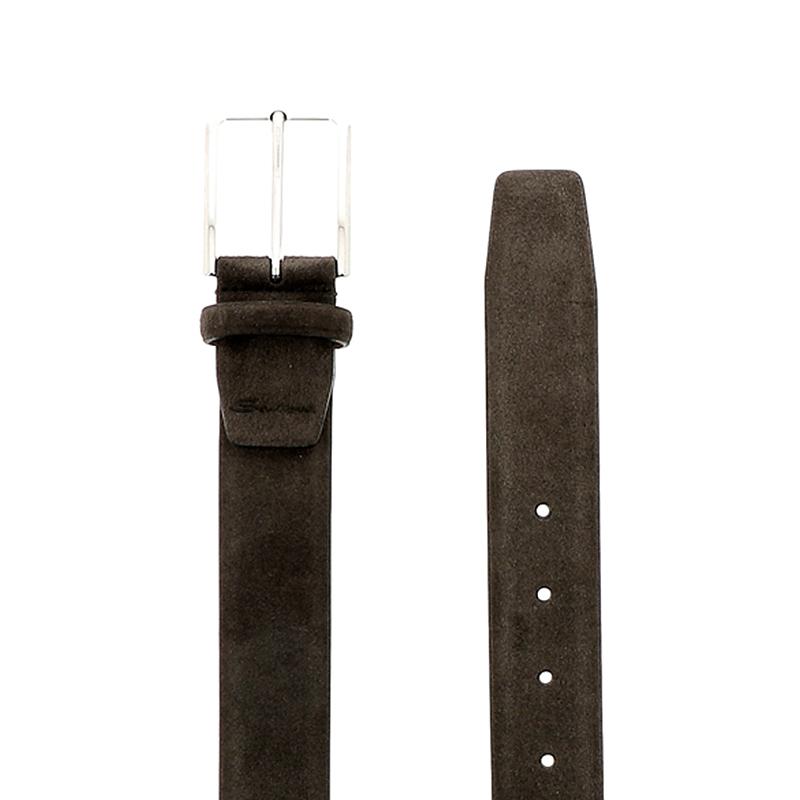 santoni ceintures Ceinture RéglableCEINTURI ONE - NUBUCK - GRIS