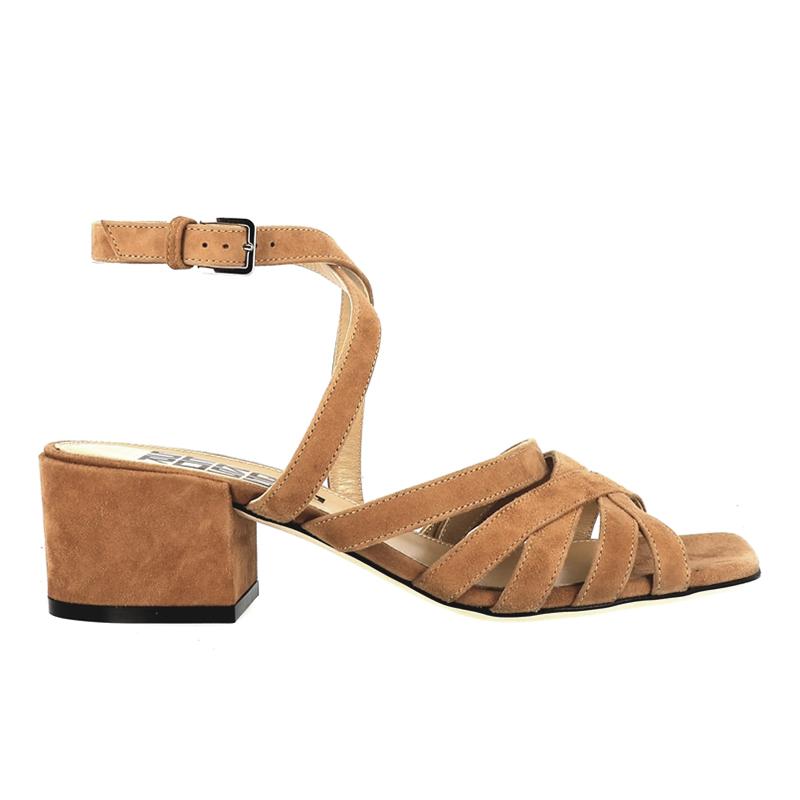sergio rossi sandales Sandales à talon 45 mmSR SANDALE BRIDE T45 - NUBUCK -