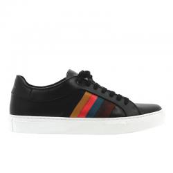 paul smith nouveautés sneakers Sneakers IvoPS SNEAK IVO - CUIR - NOIR ET LO