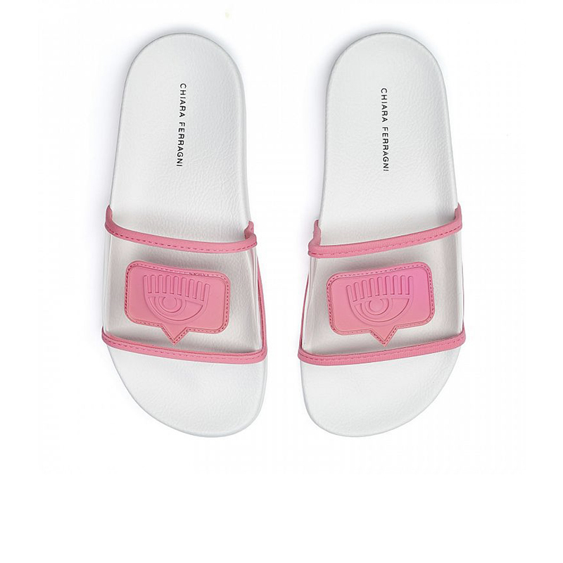 chiara ferragni nouveautés sandales Flip FlopCF FLIP FLOP - PVC - ROSE ET LOG