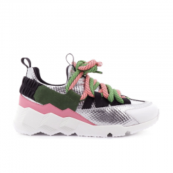 pierre hardy nouveautés sneakers Sneakers Trek CometPHF COMET F - CUIR IMPRIMÉ ET NÉ