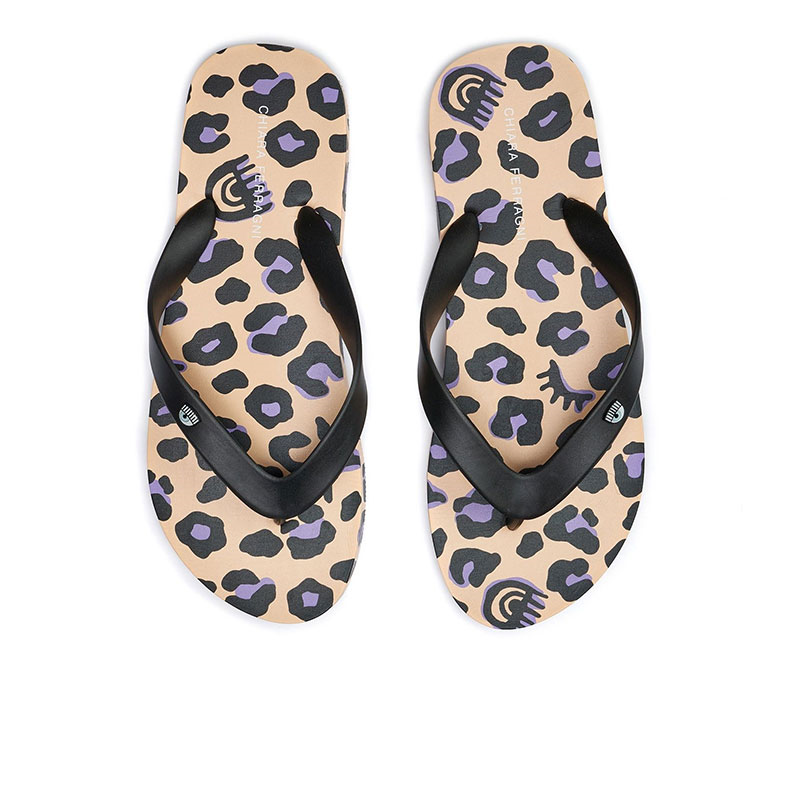 chiara ferragni sandales Flip FlopCF FLIP FLOP 2 - PVC - LÉOPARD B