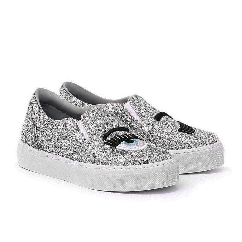 chiara ferragni nouveautés sneakers SlippersCF SLIPPER EYE - GLITTERS ET BRO