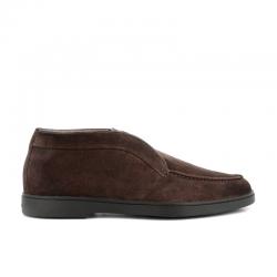 santoni mocassins et slippers MocassinsYALTA CHUKKA - NUBUCK - MARRON
