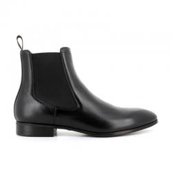 santoni nouveautés boots et bottillons BottinesSIRANO - CUIR SOUPLE - NOIR (DIS