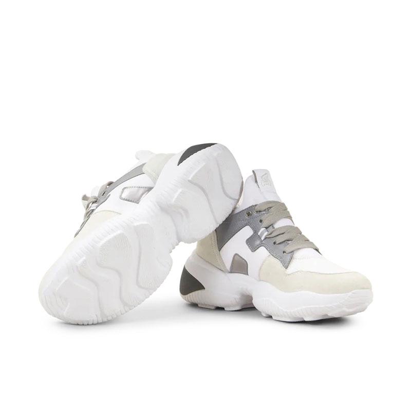 hogan nouveautés sneakers Sneakers InteractionHF INTERACTION CAPS - CUIR, NUBU