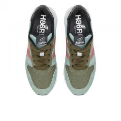 hogan nouveautés sneakers t86 f hT86 F H - NUBUCK ET TOILE - VERT