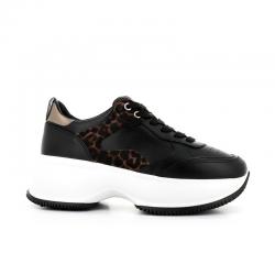 hogan nouveautés sneakers Sneakers MaxiNEW ICONIQ - CUIR ET NUBUCK IMPR