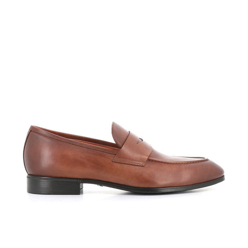 santoni mocassins et slippers Mocassins SimonSIMOC - CUIR PATINÉ - GOLD