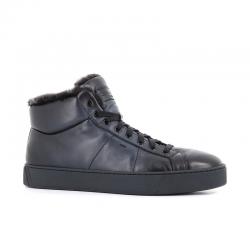 santoni nouveautés sneakers Sneakers GloriaNEW GLORIO 5 - CUIR SOUPLE - BLE