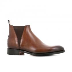 santoni nouveautés boots et bottillons Bottines à élastiques CarterCARTER BOOTS - CUIR PATINÉ - GOL