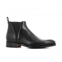 santoni nouveautés boots et bottillons Bottines à élastiques CarterCARTER BOOTS - CUIR GRAINÉ - NOI