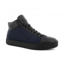 santoni nouveautés sneakers Sneakers EcoNEW GLORIO 5 RECYCLE - CUIR ET T