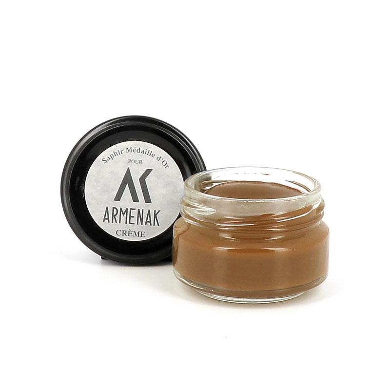 saphir cirages & crèmes Crème pour cuirPOMMADIER - CRÈME - MARRON CLAIR