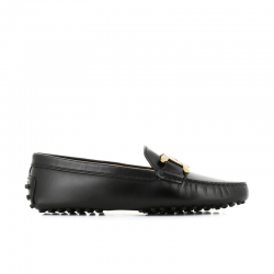 tod's mocassins & slippers Mocassins GomminiT CATENA - CUIR - NOIR ET CHAINE