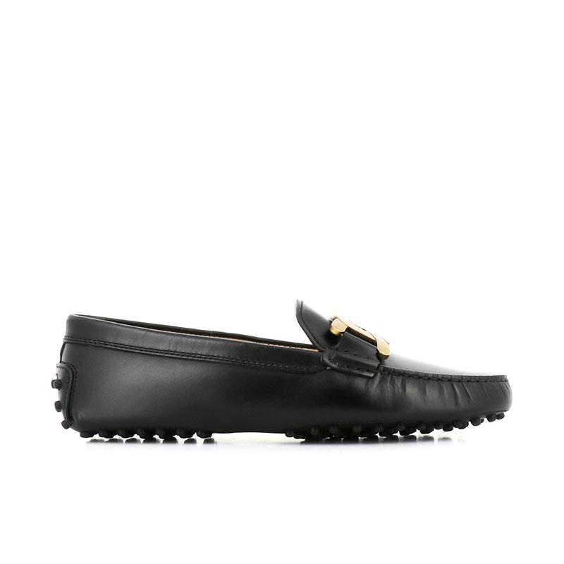 tod's mocassins & slippers Mocassins GomminiT CATENA - CUIR - NOIR ET CHAINE