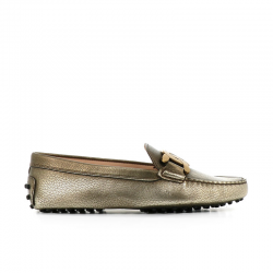 tod's mocassins & slippers Mocassins GomminiT CATENA - CUIR GRAINÉ MÉTALLISÉ