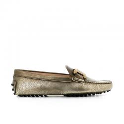 tod's mocassins & slippers Mocassins GomminiT CATENA - CUIR GRAINÉ MÉTALLISÉ
