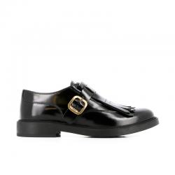 tod's chaussures à boucles todmonk 2TODMONK 2 - CUIR GLACÉ - NOIR ET