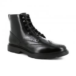 hogan nouveautés boots et bottillons Bottines à lacetsBARBER SEVEN - CUIR GLACÉ - NOIR