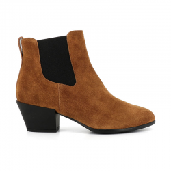 hogan bottines Bottines TexanoEXA 4 - NUBUCK - FAUVE