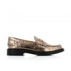 tod's mocassins & slippers MocassinsIVRESS 3 - CUIR MÉTALLISÉ - BRON