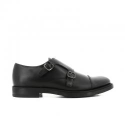 tod's chaussures à boucles Double boucle à bout droitBASSA BOUCLES - CUIR - NOIR ET A
