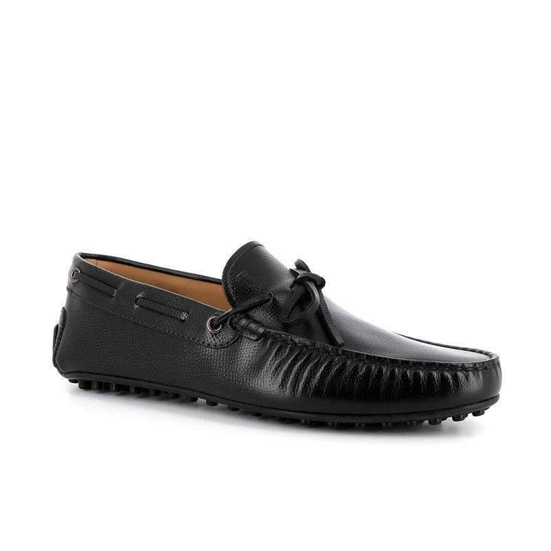 tod's mocassins et slippers Mocassins City Gommino à lacetsBABYLONE 3 - CUIR GRAINÉ - NOIR