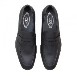 tod's mocassins et slippers MocassinsRIALTO 3 - CUIR IMPRIMÉ - NOIR