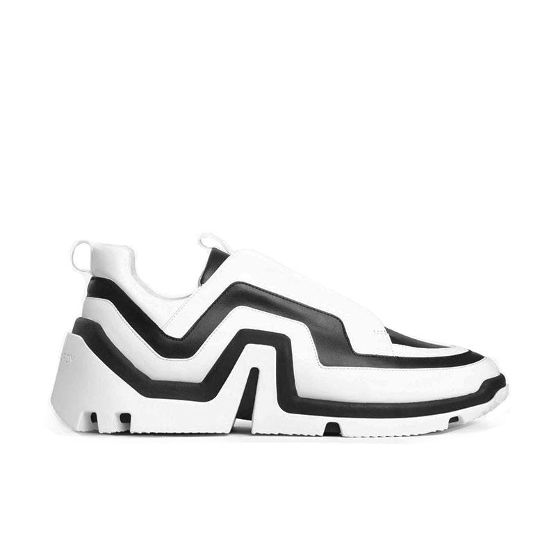 pierre hardy sneakers Sneakers VibePHF VIBE F - CUIR - NOIR ET BLAN