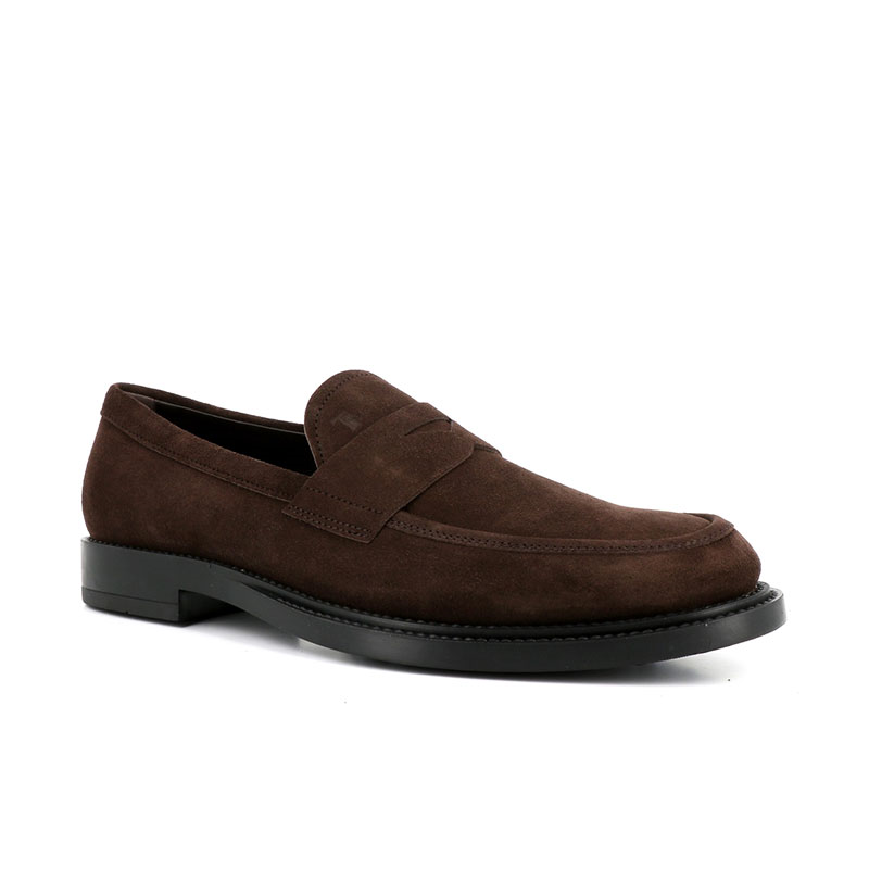 tod's mocassins et slippers Mocassins collègeCOLLEGE 3 - NUBUCK - MARRON