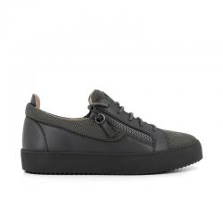 giuseppe zanotti sneakers Sneakers FrankieGZ H FRANKIE - CUIR ET TOILE - G