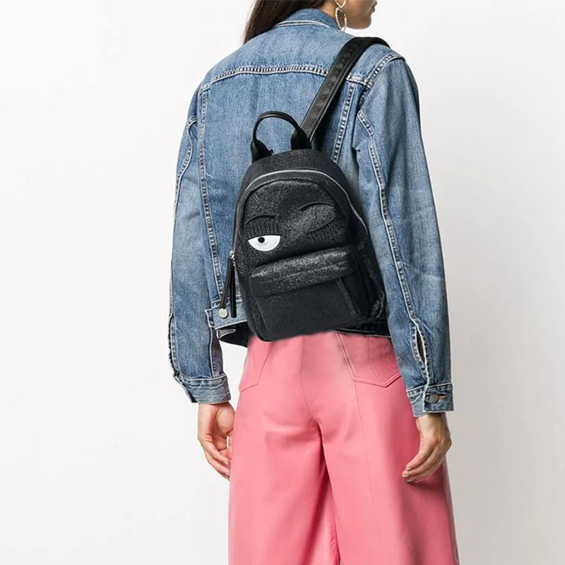 chiara ferragni promotions sacs à dos BackPackCF BACKPACK SMALL - GLITTERS - N
