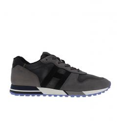 Hogan nouveautés sneakers Sneakers H383HH H383 (1) - NUBUCK ET TOILE DÉ