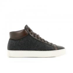 santoni nouveautés sneakers Sneakers GloriaNEW GLORIO 5 - CUIR ET FLANELLE