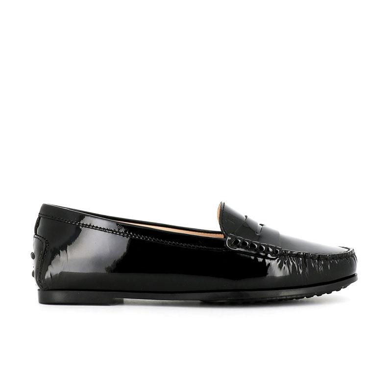 tod's mocassins & slippers Mocassins City GomminoBROKA - CUIR VERNI. - NOIR