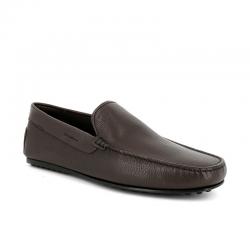 tod's mocassins et slippers Mocassins City GomminoBROKIS - CUIR GRAINÉ - MARRON