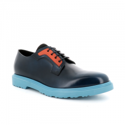 paul smith derbies et richelieux Derbies MacPS DERBY MAC - CUIR GLACÉ - BLEU