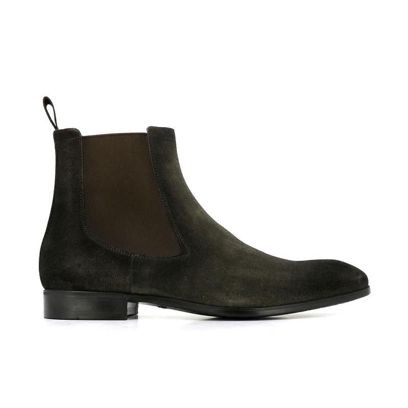 santoni nouveautés boots et bottillons BottinesSIRANO - NUBUCK - VERT FORÊT