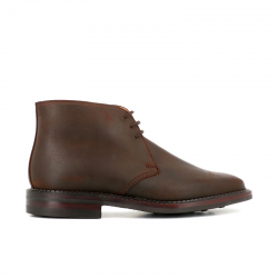 crockett & jones gomme Bottines MoltonC&J MOLTON - SUEDE - DARK BROWN