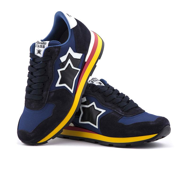 atlantic stars nouveautés sneakers as antaresAS ANTARES - NUBUCK ET TOILE - M